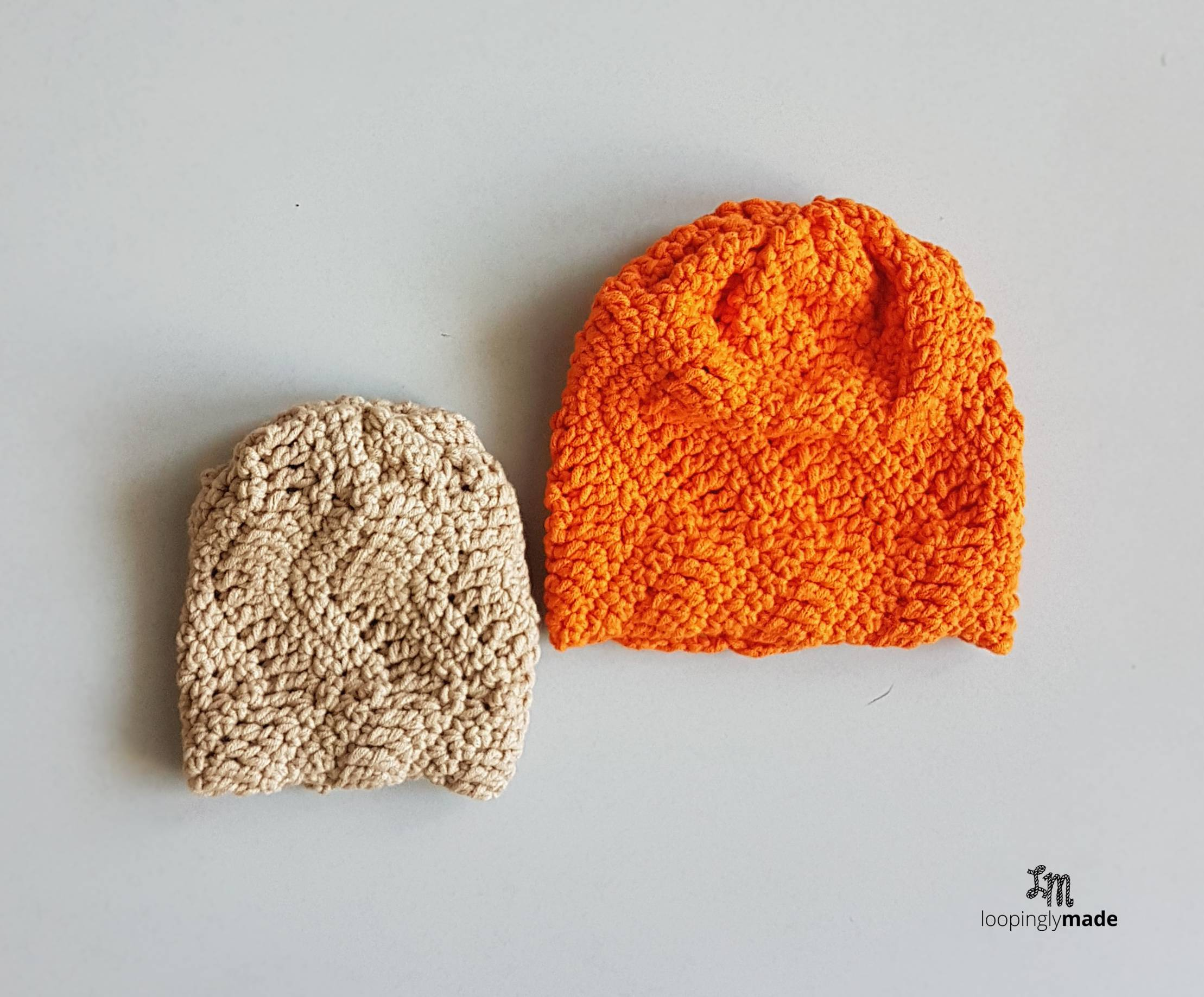 94a439526 Easy Textured Baby Hat- Free Beginner Crochet Pattern