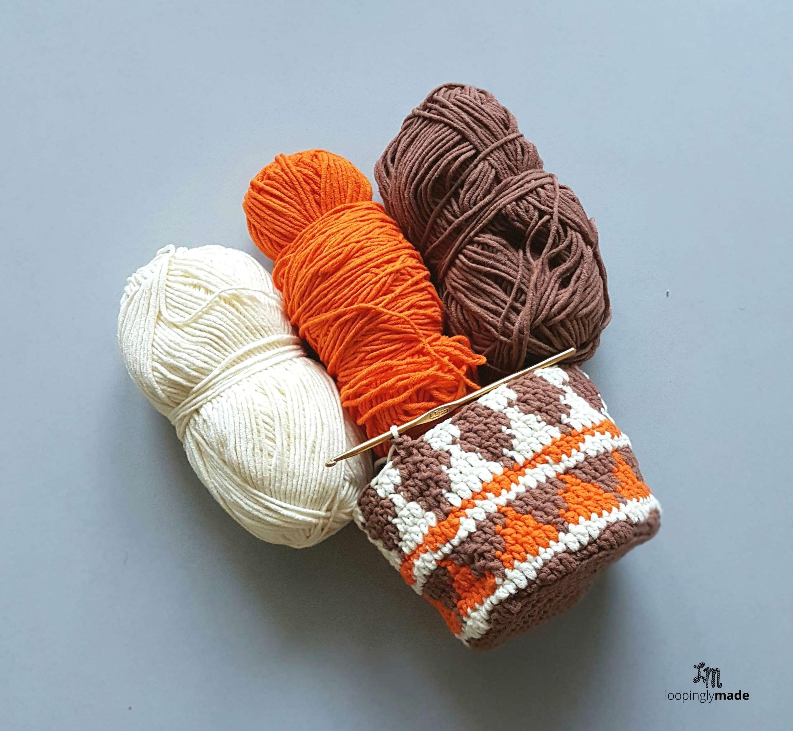Native Print Drawstring Bag- Free Crochet Pattern