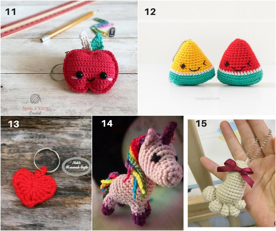 Cute Amigurumi Keychains Free Crochet Patterns | 788x940