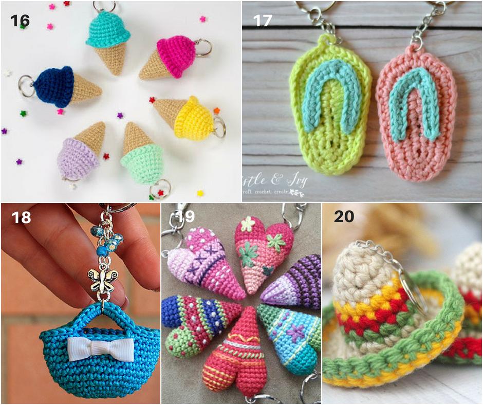 Crochet Keychain Watermelon: Free and quick pattern | 788x940